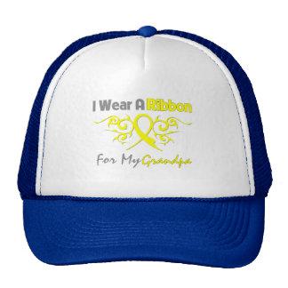 Grandpa - I Wear A Yellow Ribbon Military Support Trucker Hat