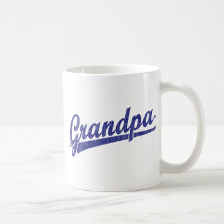 Grandpa in blue classic white coffee mug