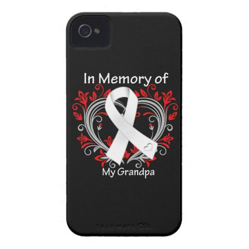 Grandpa - In Memory Lung Cancer Heart iPhone 4 Cases
