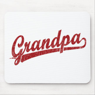 Grandpa in red mouse pad