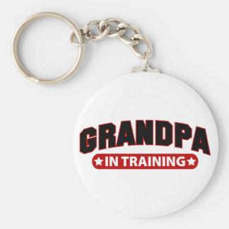 Grandpa In Training Basic Round Button Keychain