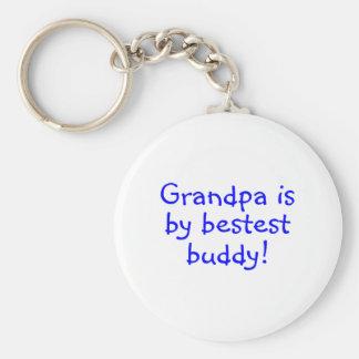 Grandpa Is My Bestest Buddy Basic Round Button Keychain