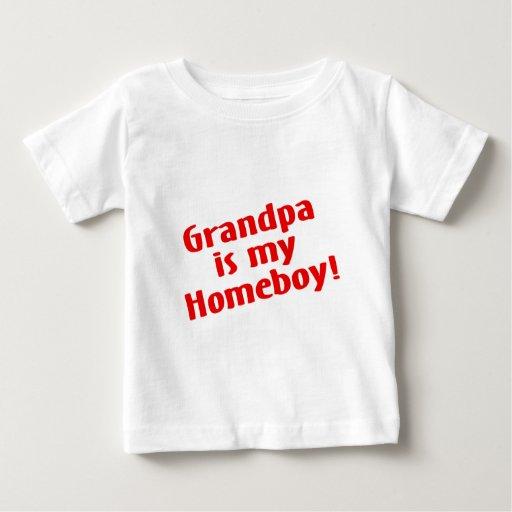 Grandpa Is My Homeboy Baby T-Shirt