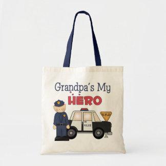 Grandpa Kids Police Gift Tote Bag
