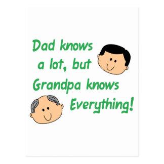 Grandpa Knows Everything Postcard