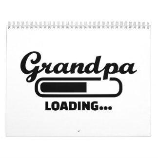Grandpa loading wall calendars