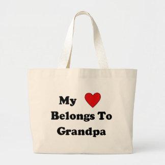 Grandpa Love Large Tote Bag
