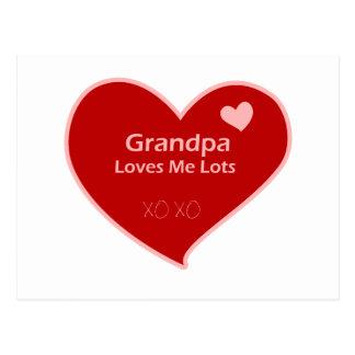 Grandpa Loves Me Postcard