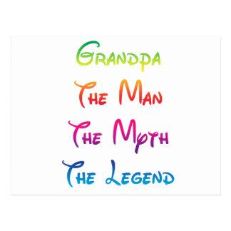 Grandpa Man Myth Legend Postcard