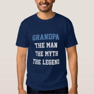 Grandpa man myth legend t shirt