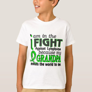 Grandpa Means The World To Me Lymphoma T-Shirt