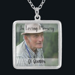 """Grandpa Memorial Photo Charm Wedding Bouquet Silver Plated Necklace<br><div class=""""desc"""">Lovely idea if you're a bride who has lost someone special and wish they could be with you on your wedding; this charm can be added to your bouquet in memory of them. It comes with a necklace so you can have it as a keepsake and continue to wear it...</div>"""