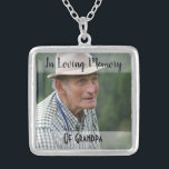 "Grandpa Memorial Photo Charm Wedding Bouquet Silver Plated Necklace<br><div class=""desc"">Lovely idea if you're a bride who has lost someone special and wish they could be with you on your wedding; this charm can be added to your bouquet in memory of them. It comes with a necklace so you can have it as a keepsake and continue to wear it...</div>"