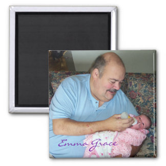 """Grandpa Mike feeding Emma Grace"" Magnet"