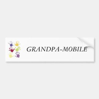 GRANDPA-MOBILE CAR BUMPER STICKER