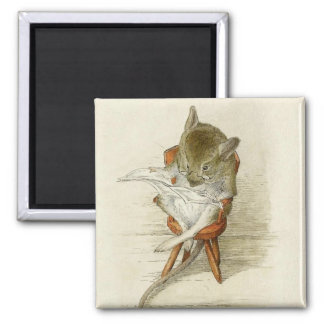 Grandpa Mouse Reading a Newspaper Magnet