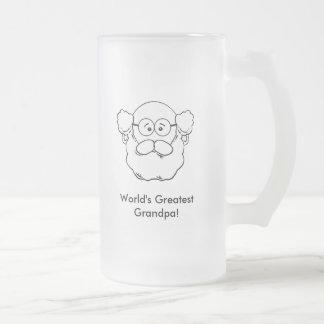 Grandpa_Mug2(Personalize) Frosted Glass Beer Mug