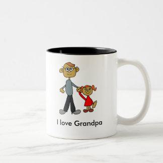 Grandpa_Mug_Art (Personalize) Two-Tone Coffee Mug