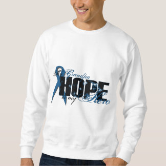 Grandpa My Hero - Colon Cancer Hope Pullover Sweatshirt