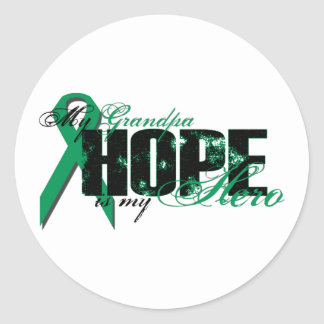 Grandpa My Hero - Kidney Cancer Hope Classic Round Sticker