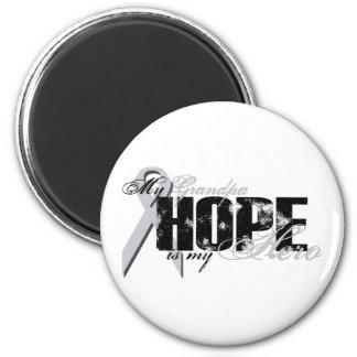 Grandpa My Hero - Lung Hope 2 Inch Round Magnet