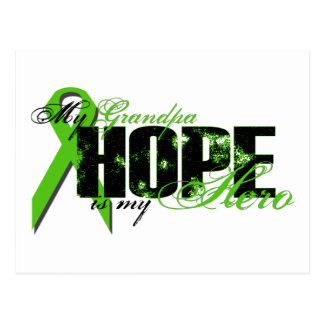 Grandpa My Hero - Lymphoma Hope Postcard