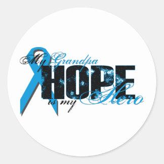Grandpa My Hero - Prostate Hope Classic Round Sticker