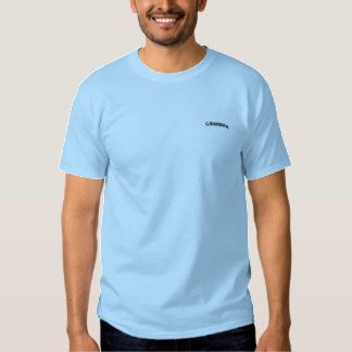 Grandpa Name Design Embroidered T-Shirt