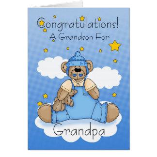Grandpa New Baby Boy Congratulations Card