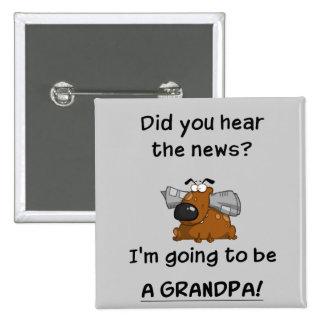 Grandpa News Pinback Buttons
