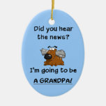 Grandpa News Christmas Tree Ornament