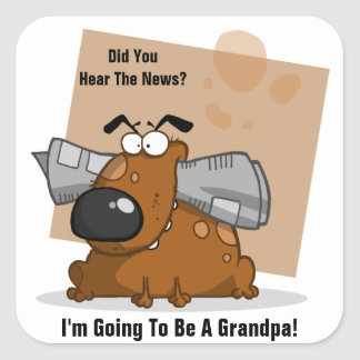 Grandpa News (customizable) Square Sticker