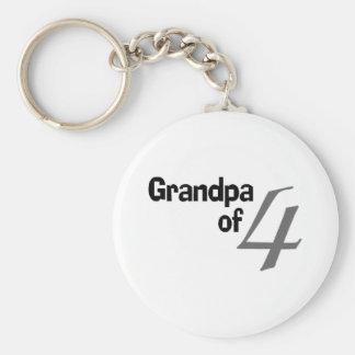 Grandpa Of 4 Keychain