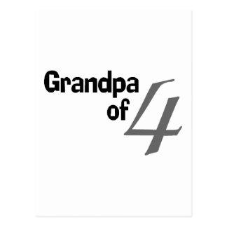 Grandpa Of 4 Postcard