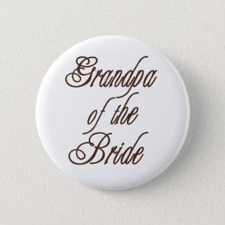 Grandpa of Bride Classy Browns Button