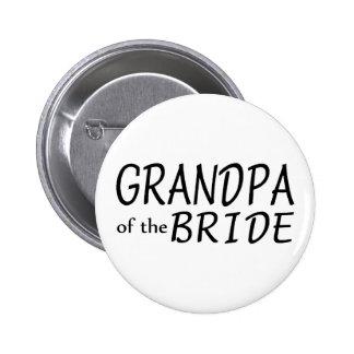 Grandpa Of The Bride Pinback Buttons