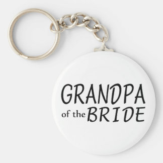 Grandpa Of The Bride Keychain