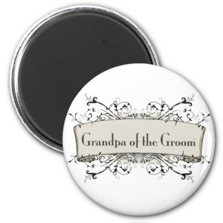 *Grandpa Of the Groom 2 Inch Round Magnet