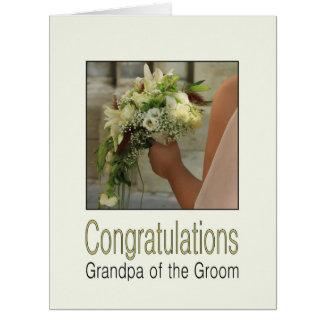 Grandpa of the groom wedding congratulations card