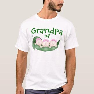 Grandpa of Triplet Girls T-Shirt