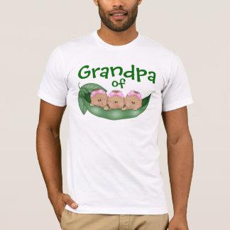Grandpa of Triplet Girls with Dark Skin T-Shirt