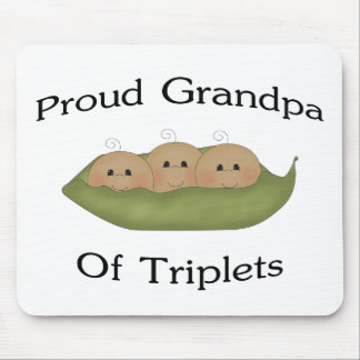 Grandpa Of Triplets Mouse Pad