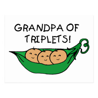 Grandpa of Triplets Pod Postcard