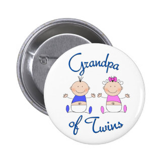 Grandpa of Twins Button