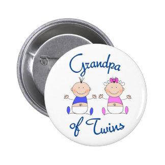 Grandpa of Twins Button