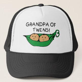 Grandpa of Twins Pod Trucker Hat