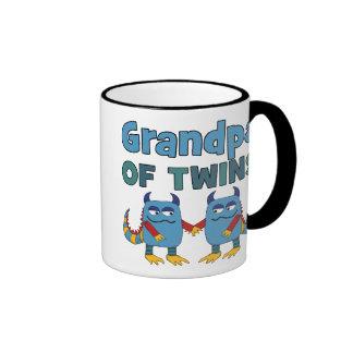 GRANDPA OF TWINS RINGER COFFEE MUG