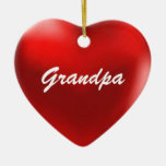 Grandpa Ornament Heart