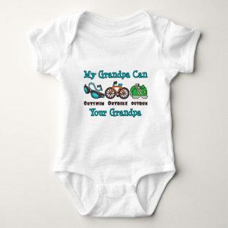 Grandpa Outswim Outbike Outrun Triathlon Baby Body Infant Creeper