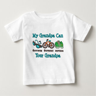 Grandpa Outswim Outbike Outrun Triathlon Baby T-sh Tee Shirt